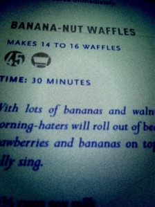 Veganomicon's Banana Nut Waffles
