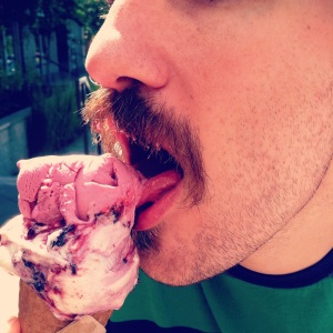 Cory's Mustache Loves Ice Cream!