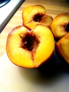 Peaches, Halved