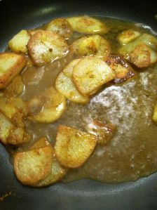 Curried Potatoes cooking