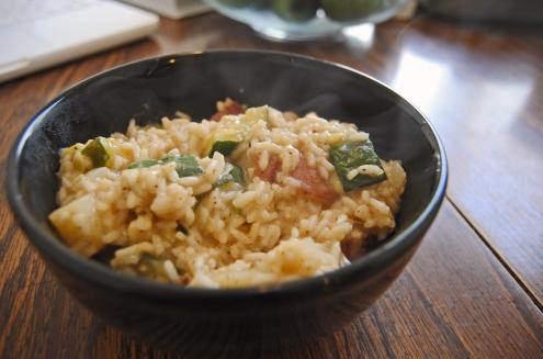 Zucchini-Red Potato Rissoto