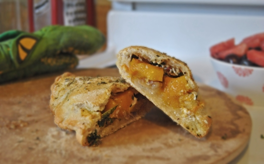 Roasted Butternut Squash Calzones