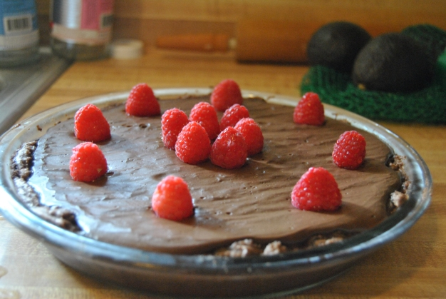 Vegan Double Chocolate Pudding Pie
