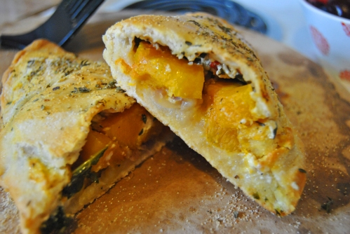 Butternut Squash and Kale Calzone