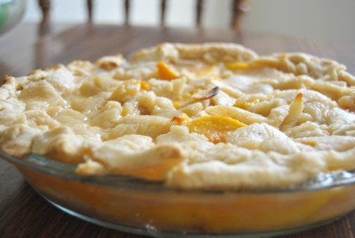 Inside-Out Peach Pie