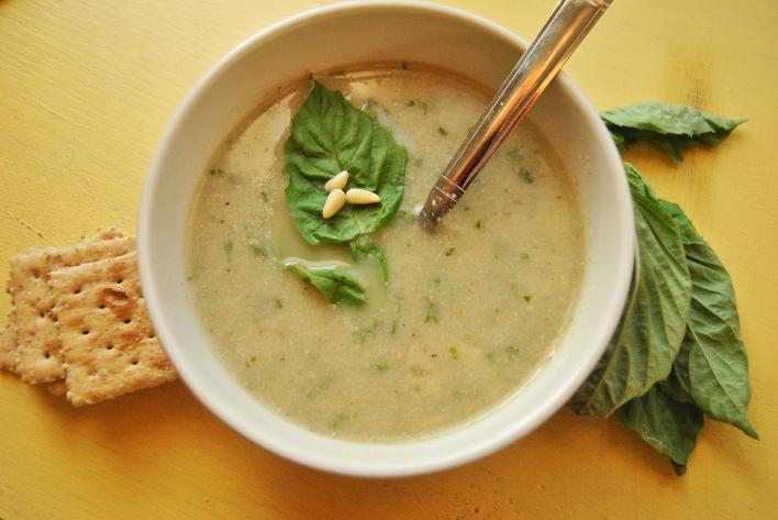 Cauliflower Pesto Soup