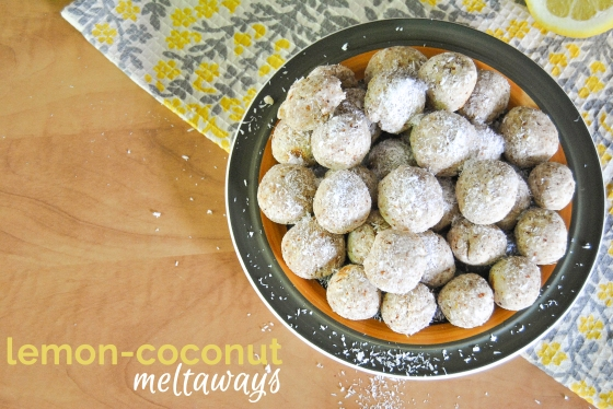 Lemon-Coconut Meltaways